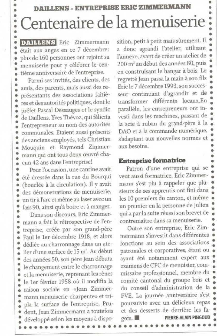 Article journal  de Cossonay